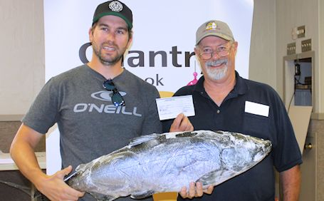 Port Elgin man holds on to win $15,000 grand prize at Chantry Chinook fishing derby