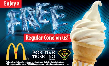 Huron OPP, McDonald's join forces in positive ticketing initiative