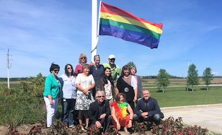 Kincardine, KDSS raise the Pride flag at municipal office