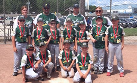 Ripley Rookie baseball team wins WOBA division title