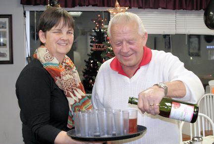 Diners enjoy New Year's Eve meal at Jean's Family Restaurant
