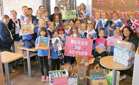 Kincardine Guiding donates used books to McDonald's Restaurant